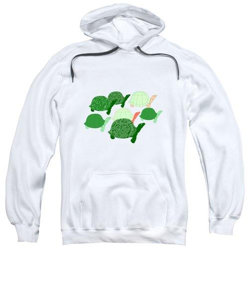 Herd Of Turtles Pattern Sweatshirt by Methune Hively