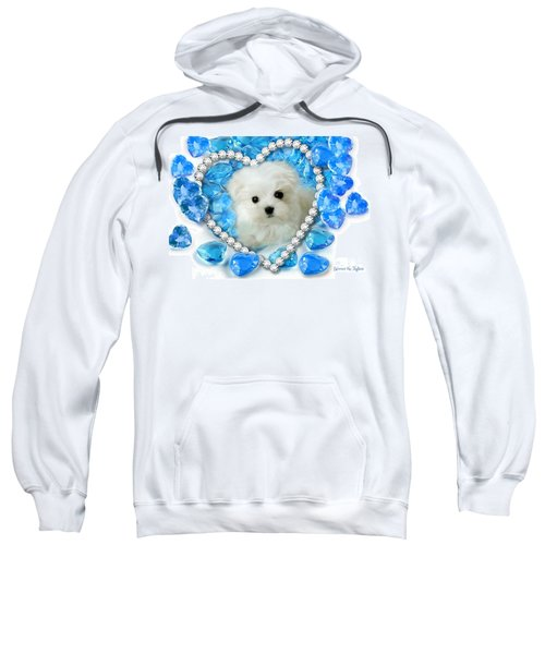 Hermes The Maltese And Blue Hearts Sweatshirt