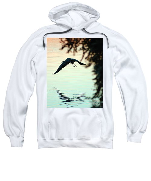 Heron At Dusk Sweatshirt