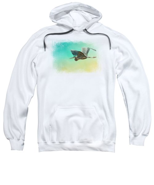 Heron At Sea Sweatshirt by Jai Johnson