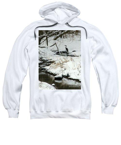 Heron In Winter Sweatshirt
