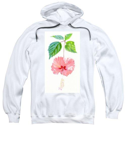 Hibiscus Sprinkle Rain, Rosa Sinensis Sweatshirt