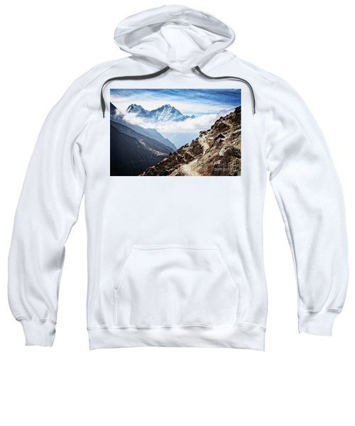 Sweatshirt featuring the photograph High In The Himalayas by Scott Kemper