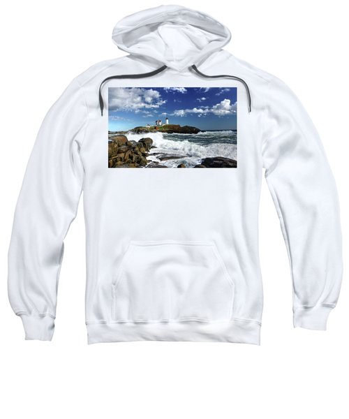 High Surf At Nubble Light Sweatshirt