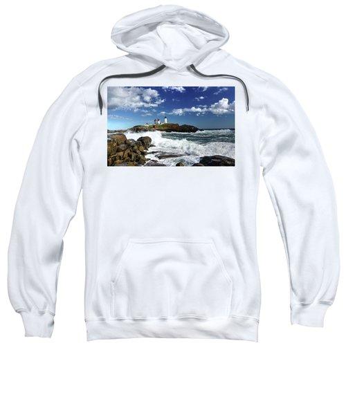 High Surf At Nubble Light Sweatshirt