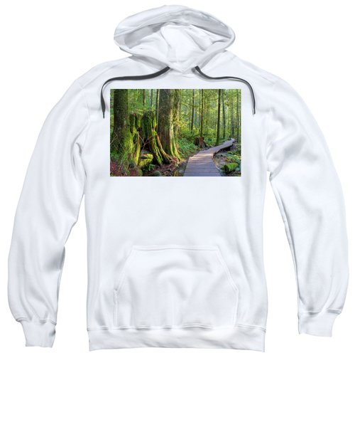 Hiking Trail Through Forest In Lynn Canyon Park Sweatshirt