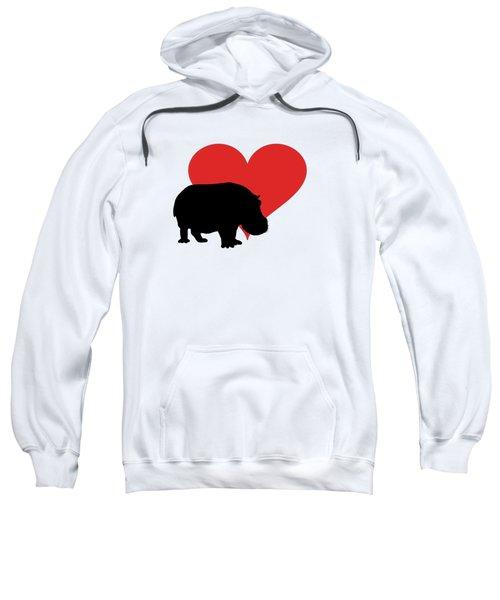 Hippopotamus Sweatshirt by Mordax Furittus