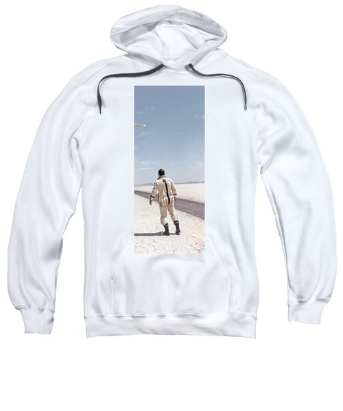 Hl-10 On Lakebed With B-52 Flyby Panel 3 Sweatshirt