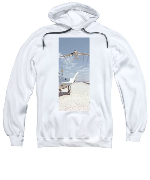 Hl-10 On Lakebed With B-52 Flyby Panel 2 Sweatshirt