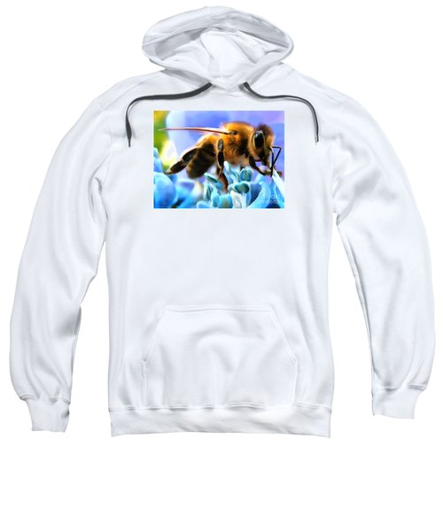 Honey Bee In Interior Design Thick Paint Sweatshirt