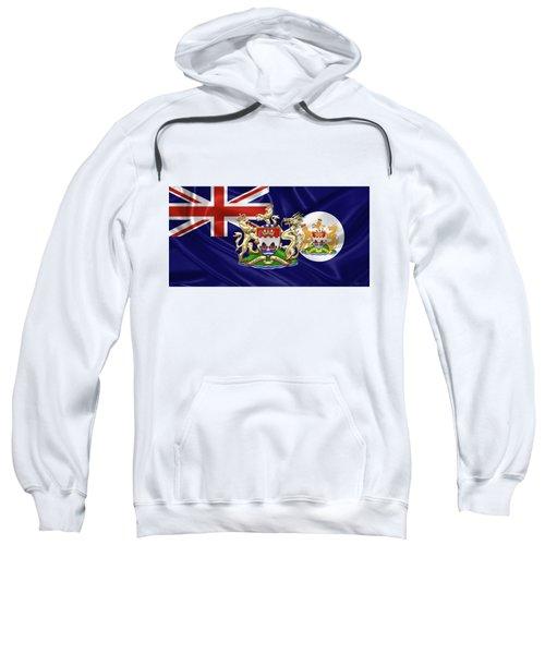 Hong Kong - 1959-1997 Historical Coat Of Arms Over British Hong Kong Flag  Sweatshirt