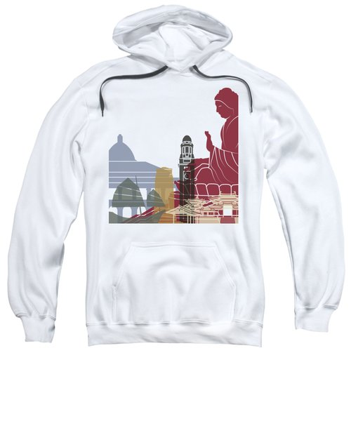 Hong Kong Skyline Poster Sweatshirt