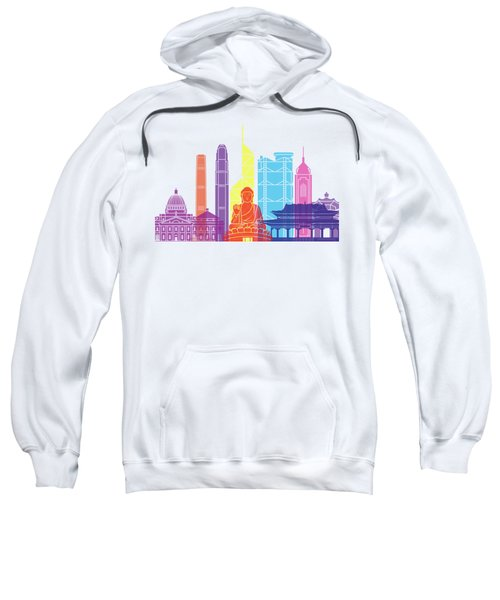 Hong Kong V2 Skyline Pop Sweatshirt by Pablo Romero