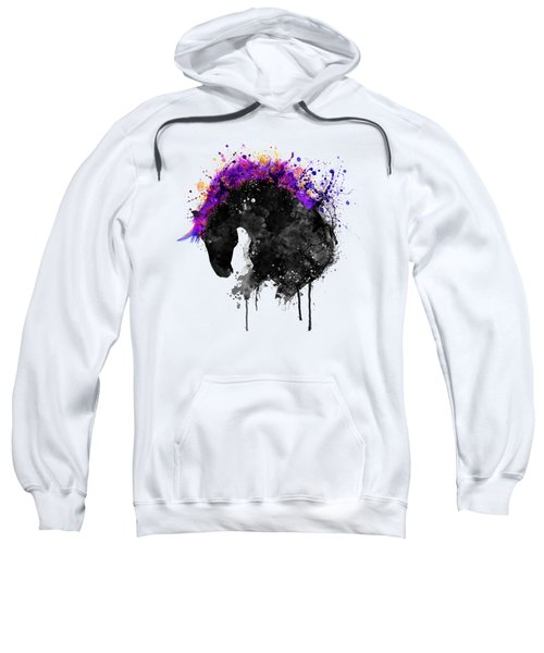 Horse Head Watercolor Silhouette Sweatshirt
