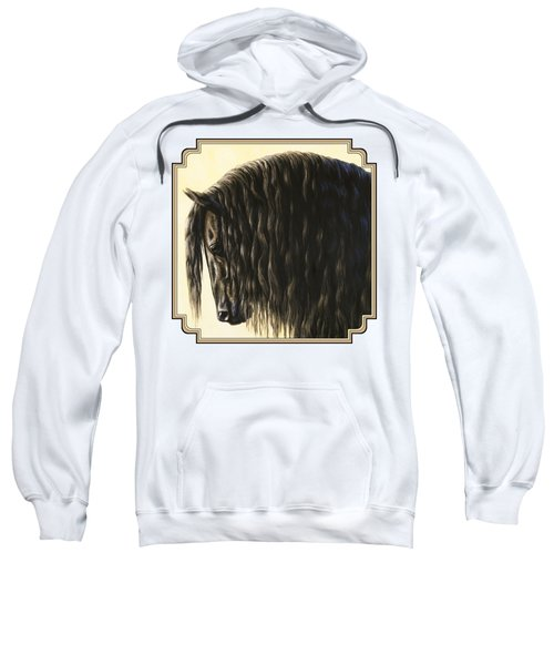 Horse Painting - Friesland Nobility Sweatshirt by Crista Forest
