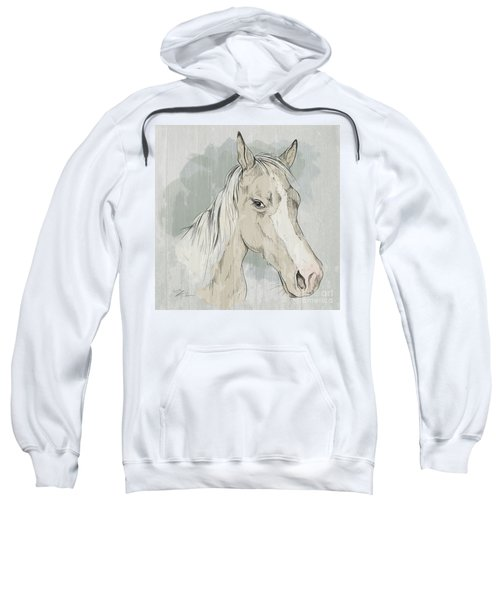 Horse Portrait-farm Animals Sweatshirt