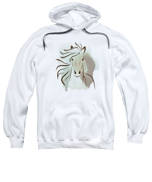 Horse Wall Art - Elegant Bright Pastel Color Animals Sweatshirt