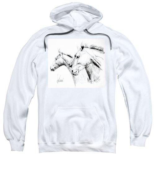 Horses - Ink Drawing Sweatshirt