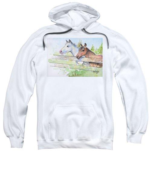 Horses Watercolor Sketch Sweatshirt