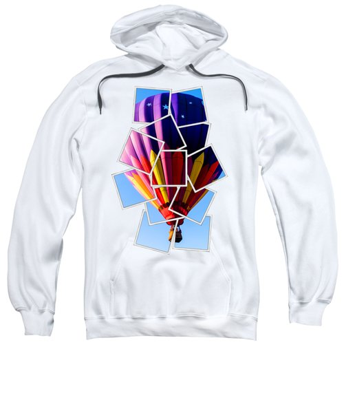 Sweatshirt featuring the photograph Hot Air Ballooning Tee by Edward Fielding