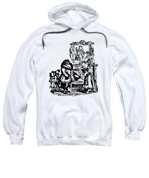 House Guest Cat Grandville Transparent Background Sweatshirt