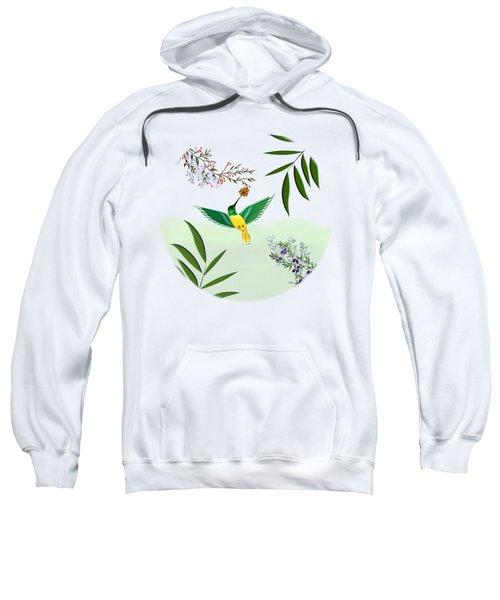 Humming Bird - Circle/clear Background Sweatshirt