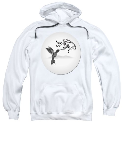 Hummingbird On Oval Sweatshirt