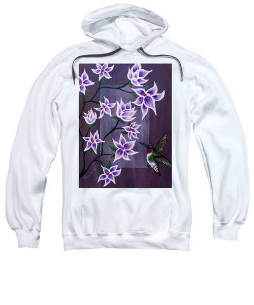 Hummingbird Delight Sweatshirt by Teresa Wing