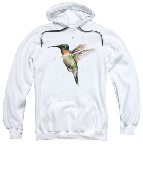 Hummingbird Sweatshirt by Olga Shvartsur