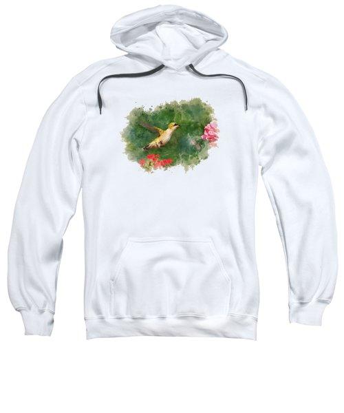 Hummingbird - Watercolor Art Sweatshirt