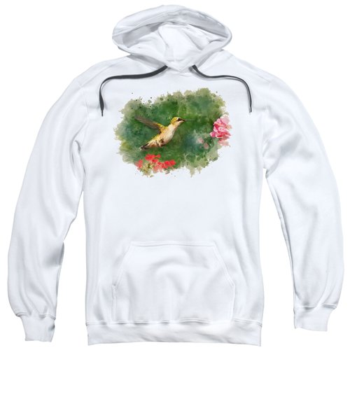 Sweatshirt featuring the mixed media Hummingbird - Watercolor Art by Christina Rollo