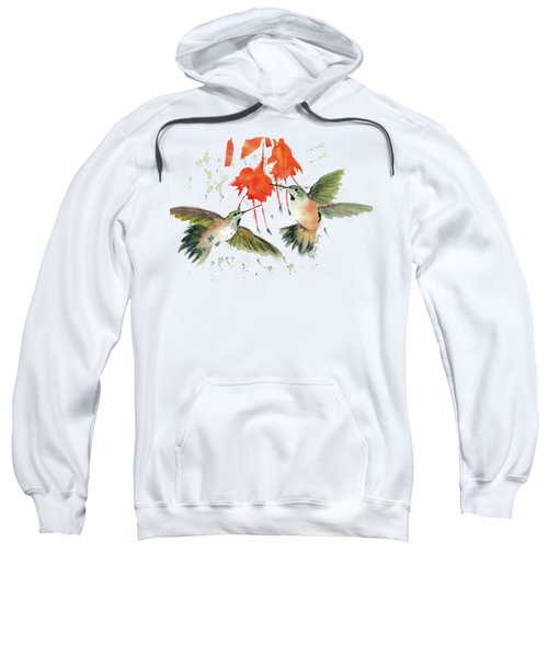 Hummingbird Watercolor Sweatshirt