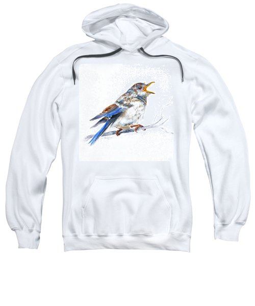 Hungry Fledgling Blue Bird Sweatshirt