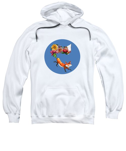 Hunt Flowers Not Foxes Blue Sweatshirt