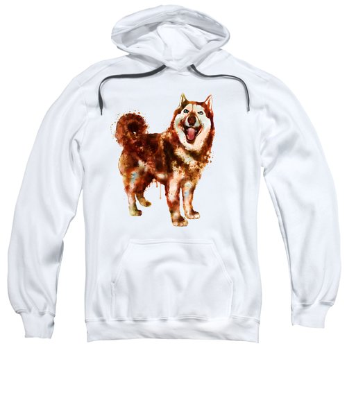 Husky Dog Watercolor Sweatshirt