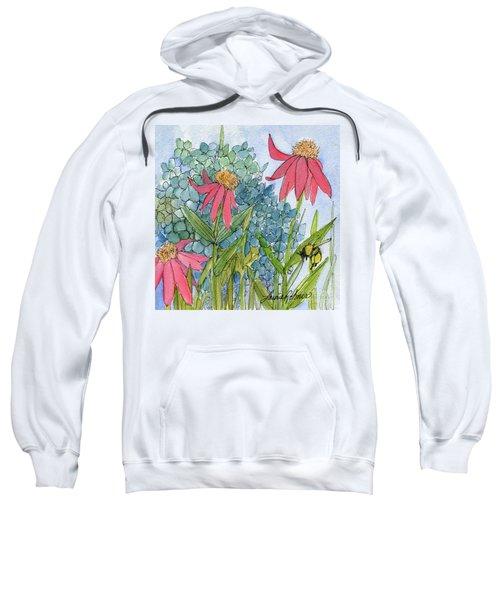 Hydrangea With Bee Sweatshirt