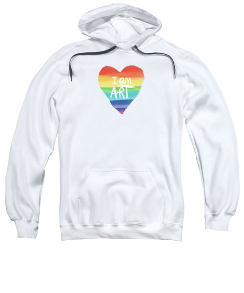 I Am Art Rainbow Heart- Art By Linda Woods Sweatshirt
