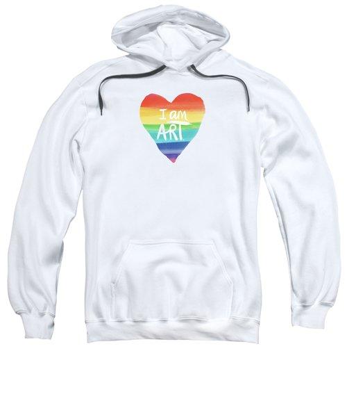 I Am Art Rainbow Heart- Art By Linda Woods Sweatshirt