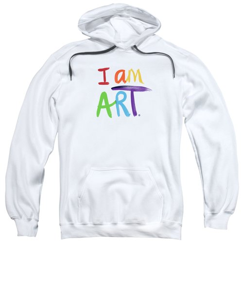 I Am Art Rainbow Script- Art By Linda Woods Sweatshirt
