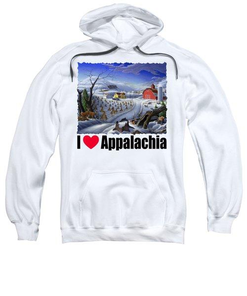 I Love Appalachia - Rural Winter Landscape Sweatshirt
