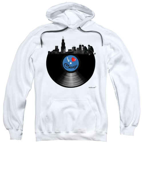 I Love Chicago Sweatshirt by Glenn Holbrook