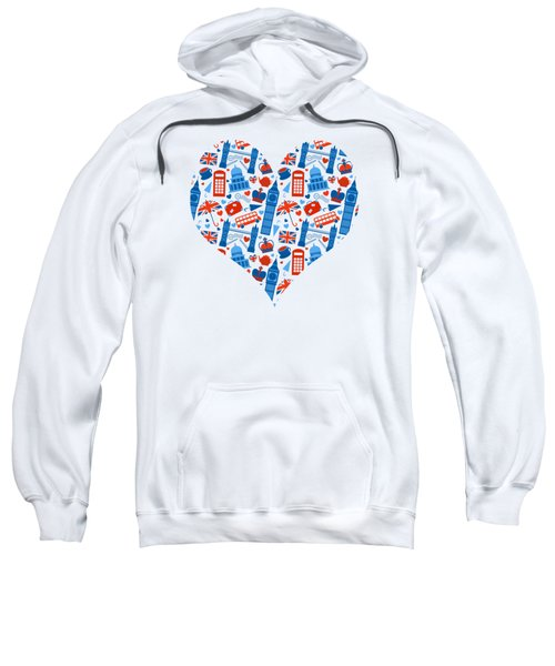 I Love England A Pattern For Anglophiles Sweatshirt
