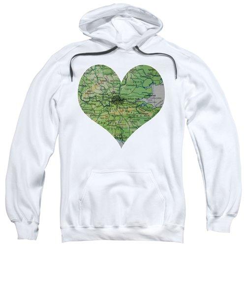 I Love London Heart Map Sweatshirt