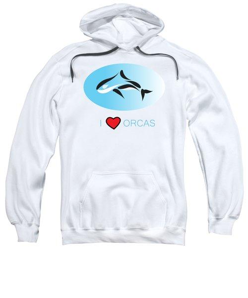 I Love Orcas Sweatshirt