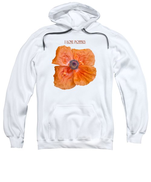 I Love Poppies Sweatshirt