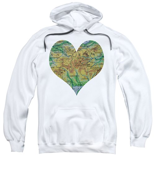 I Love Scotland Heart Map Sweatshirt