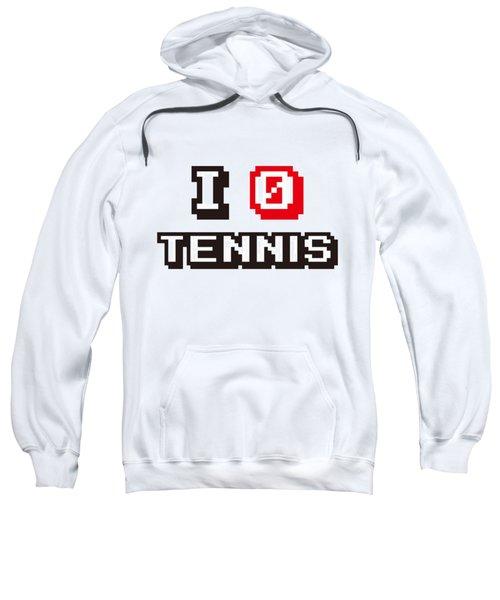 I Love Tennis Sweatshirt by Pillo Wsoisi