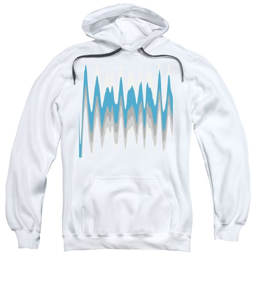 Sweatshirt featuring the mixed media Ice Blue Abstract by Christina Rollo