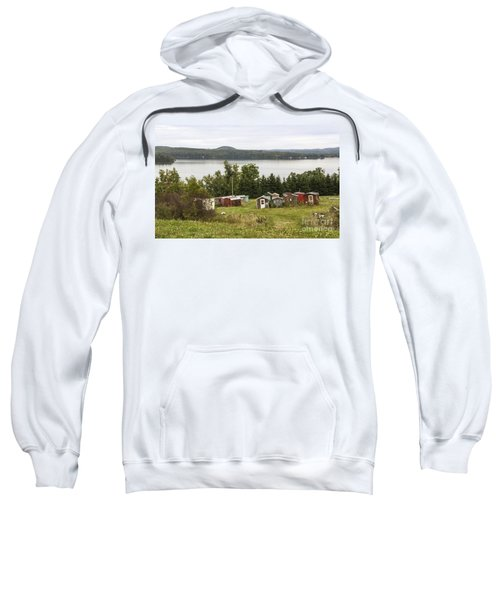 Ice Houses In Vermont Sweatshirt