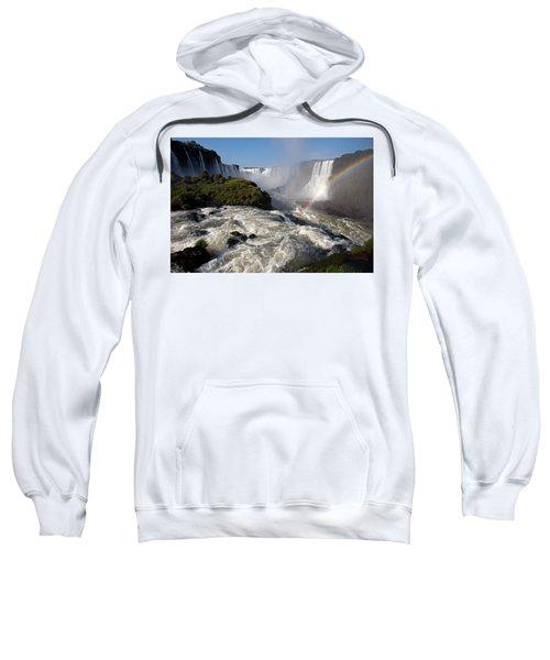 Iguassu Falls With Rainbow Sweatshirt